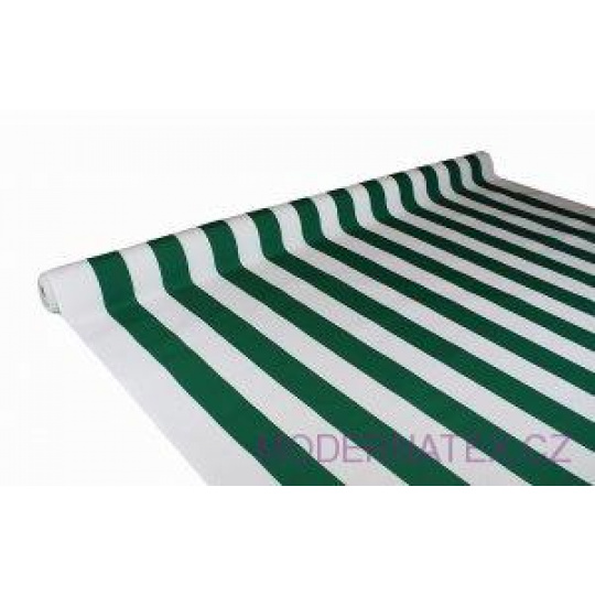 Tkanina Wodoodporna Premium wzór zielone paski
