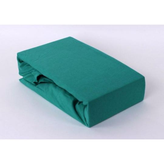 Jersey prostěradlo dvoulůžko Exclusive - zelená 200x220 cm  varianta zelená
