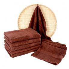 Brązowy ręcznik frotte Darsi - 50x100 cm