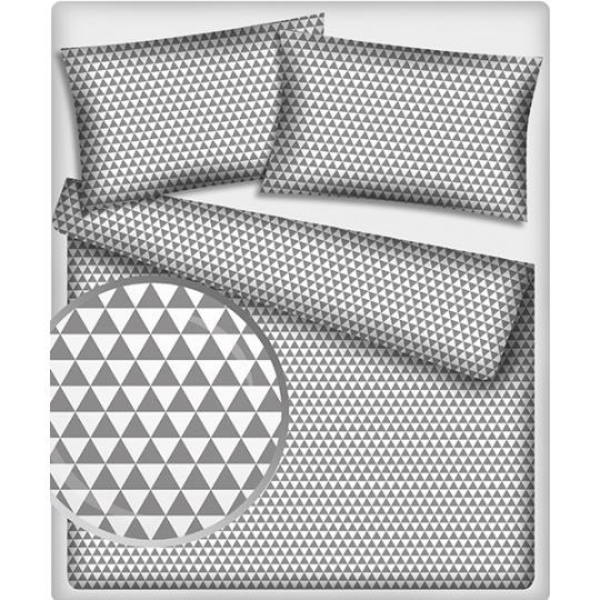 Tkanina bawełniana wzór Trójkąty w kolorze szarym