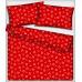 Tkanina bawełniana wzór białe serca na czerwonym tle