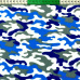 Tkanina bawełniana wzór Moro niebieski
