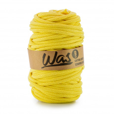 Sznurek bawełniany 9mm, 50m Jasny żółty