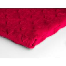 Minky serca kolor Czerwony