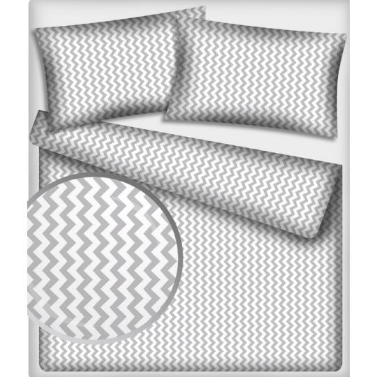 Tkanina bawełniana wzór szaro-białe zygzaki