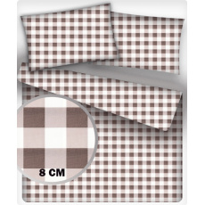 Tkanina bawełniana Kostka brązowa 8 cm
