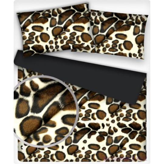 Minky ze wzorem brązowej żyrafy