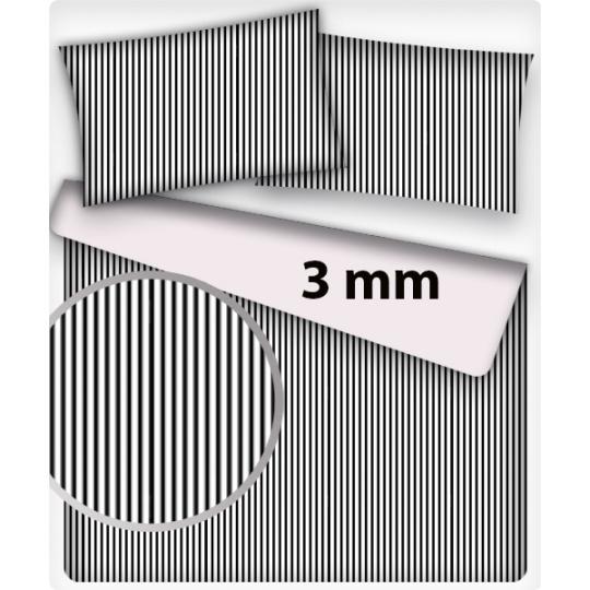 Tkanina bawełniana wzór czarne mini paski 3mm