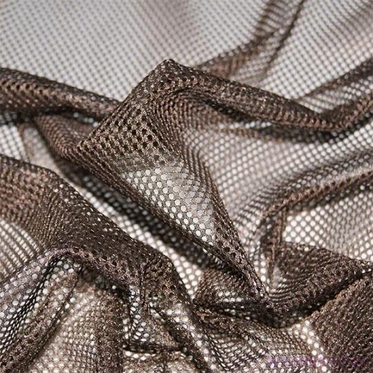 Elastyczna siatka poliestrowa szaro-brązowa, oczka 2x2 mm - DZ-008-134
