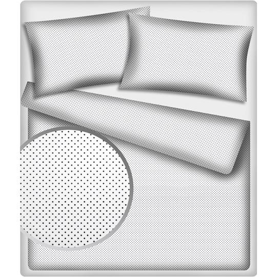 Tkanina bawełniana Granatowe groszki 4 mm na białym tle