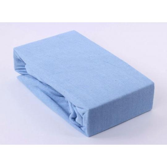 Froté prostěradlo dvoulůžko Exclusive - modrá 180x200 cm  varianta modrá světlá