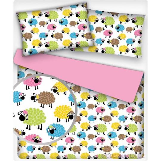 Tkanina bawełniana wzór kolorowe Owce
