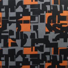 Tkanina wodoodporna KODURA wzór pomarańczowa mozaika