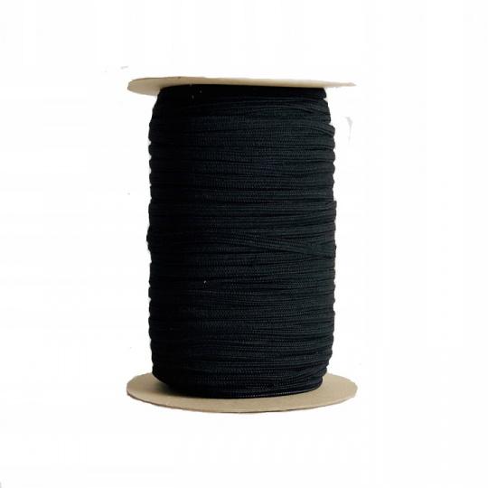 Płaska guma Czarna 5 mm, 100 m