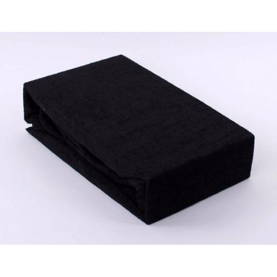 Prześcieradło frotte EXCLUSIVE z gumką 160x200 - Czarny