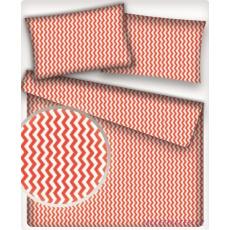 Tkanina bawełniana wzór czerwono-białe zygzaki