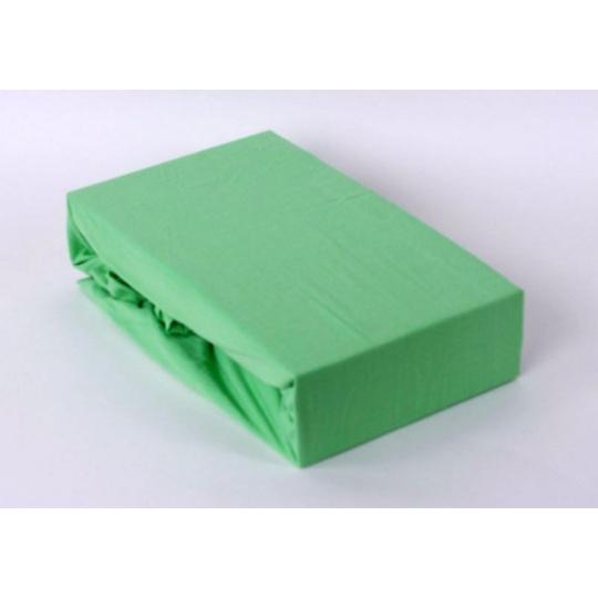 Jersey prostěradlo jednolůžko Exclusive - zelená 90x200 cm  varianta zelená
