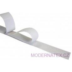 Taśma rzep z klejem (komplet) - Biała 100 mm