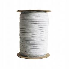 Płaska guma Biała 5 mm, 100 m