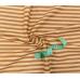 Tkanina bawełniana wzór brązowo-beżowe paski