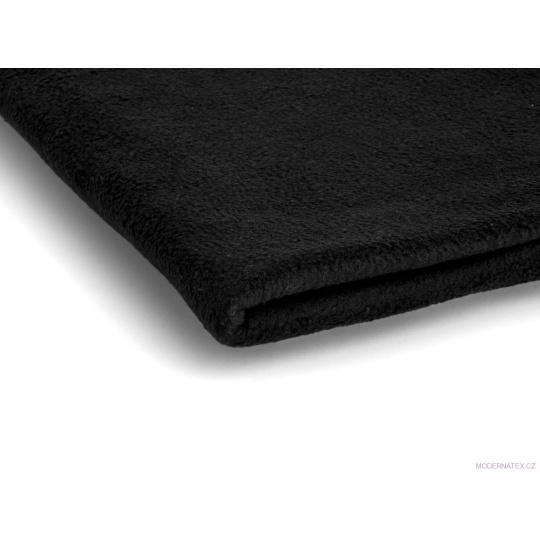 Tkanina Microfleece w kolorze czarnym