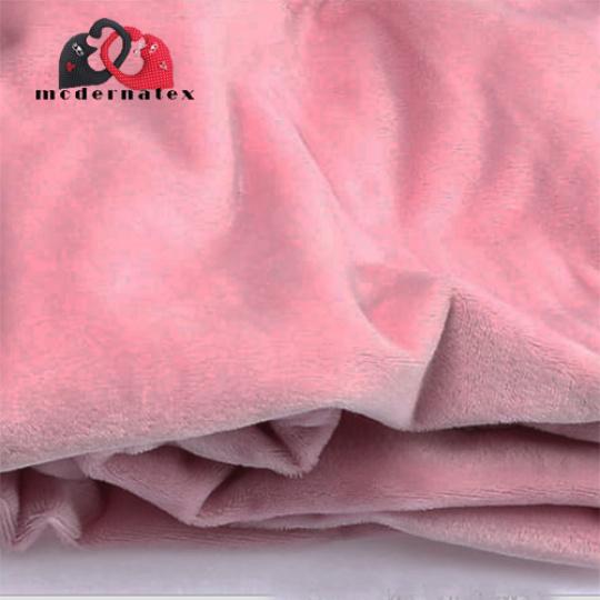 Minky kolor jednokolorowy różowy