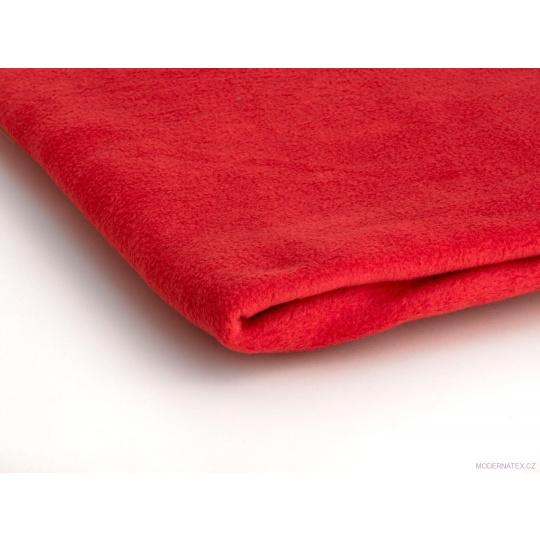 Tkanina Microfleece w kolorze czerwonym