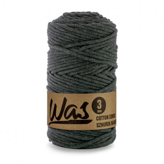 Sznurek bawełniany 3mm, 100m Antracyt