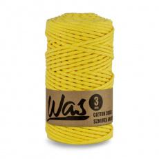 Sznurek bawełniany 3mm, 100m Jasny żółty