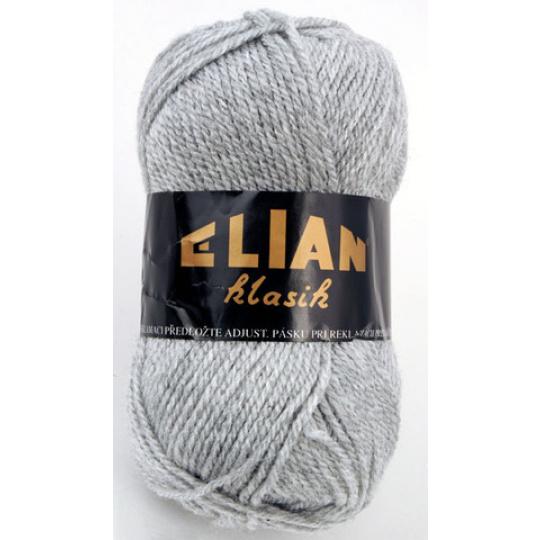 Włoczka Elian Klasik 195 kolor szary
