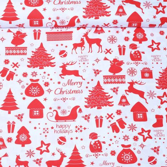 Tkanina bawełniana wzór Merry Christmas