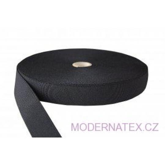 Gumka odzieżowa, szer. 30 mm - Czarna, 25 m