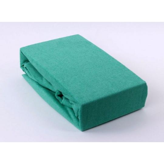 Froté prostěradlo dvoulůžko Exclusive - zelená 180x200 cm  varianta zelená