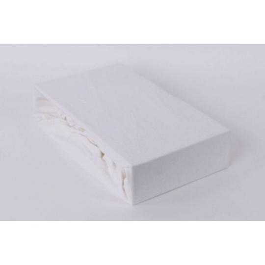 Jersey prostěradlo Exclusive - bílá 140x200 cm varianta bílá