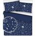 Tkanina bawełniana wzór biały kosmos