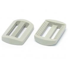 Plastikowy regulator samozaciskowy 25 mm - Biały