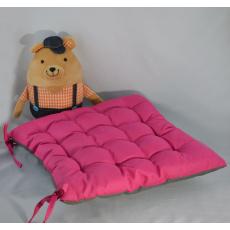 Poduszka siedziska w kolorze amarant, 38x38x4 cm