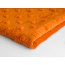 Minky serca kolor Pomarańczowy