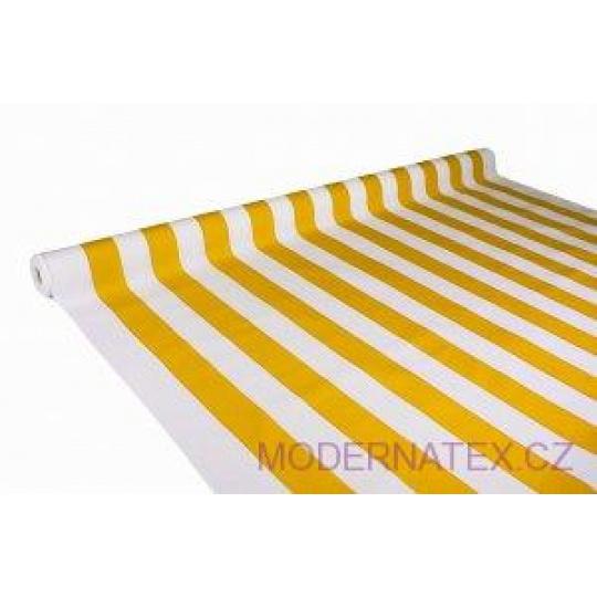 Tkanina Wodoodporna Premium wzór żółte paski