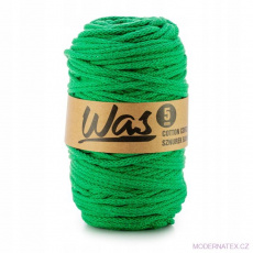 Sznurek bawełniany 5mm, 100m Zielony