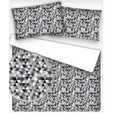 Tkanina bawełniana wzór czarne trójkąty 2 cm
