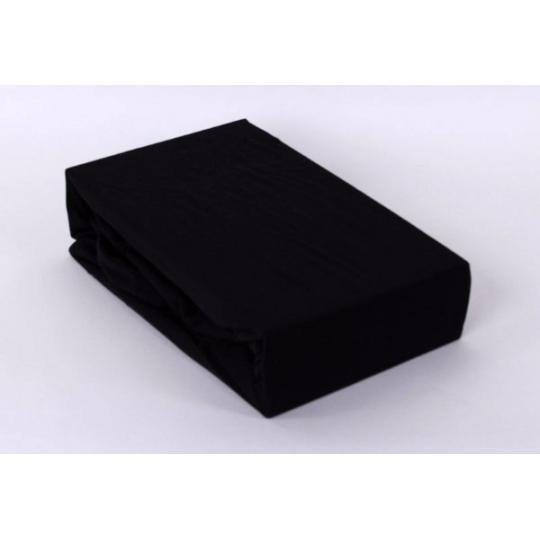Jersey prostěradlo jednolůžko Exclusive- černá 90x200 cm  varianta černá
