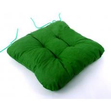 Poduszka siedziska w kolorze zielonym, 40x40x5 cm