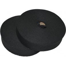 Lamówka poliestrowa czarna, 30mm