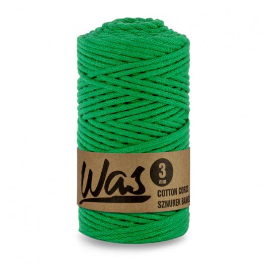 Sznurek bawełniany 3mm, 100m Zielony