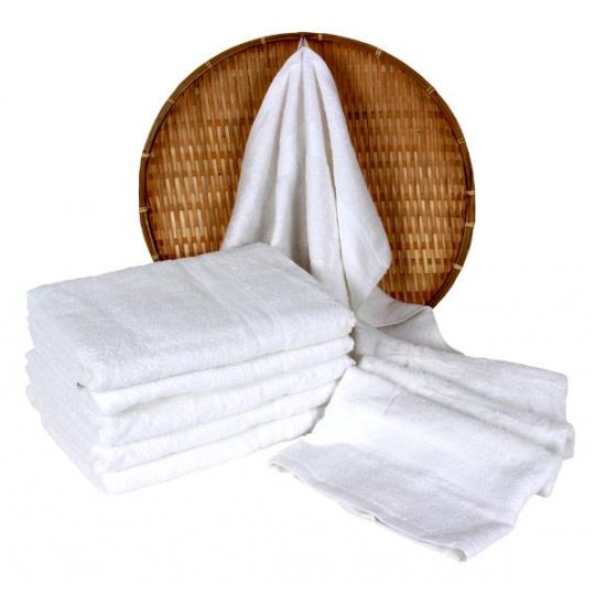 Biały ręcznik frotte Darsi - 50x100 cm