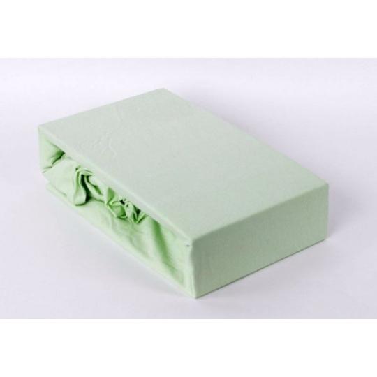 Jersey prostěradlo dvoulůžko Exclusive - zelená 200x220 cm varianta zelená světl
