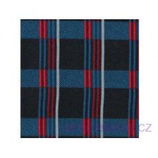 Tkanina flanela czarno-niebiesko-czerwona 4x8 kratka