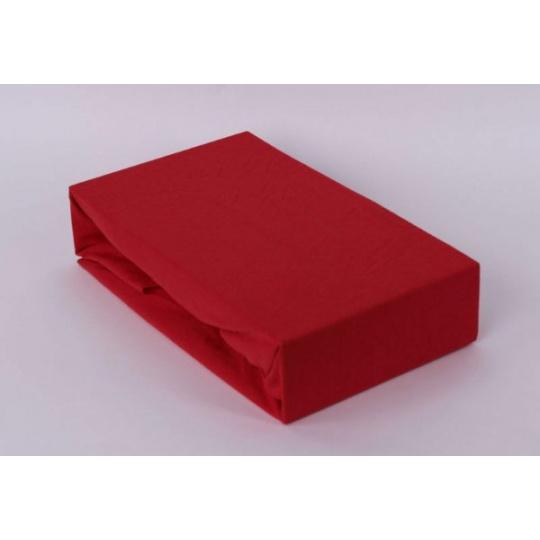 Jersey prostěradlo jednolůžko Exclusive- červená 90x200 cm varianta červená