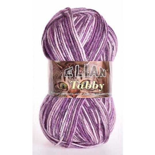 Włóczka Elian Tabby 31895 kolor fioletowy